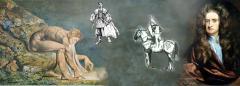 божественный геометр, изображения Рыцаря и Аристократа, Ньютон 1702