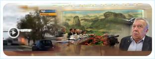 Глава РАН Владимир Фортов и премьер РФ Дмитрий Медведев в октябре 2013